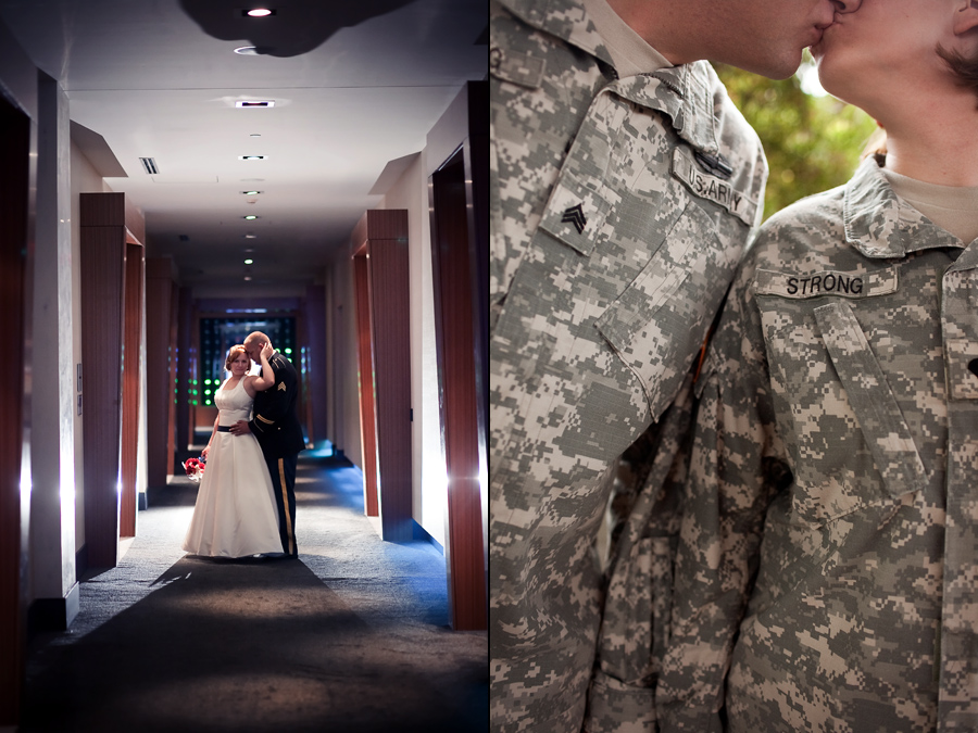 army military wedding photos, w hotel dallas wedding photos