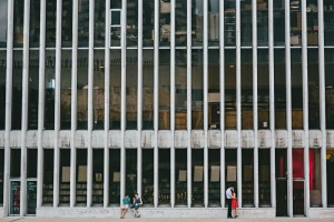 new york city lincoln center engagement photo