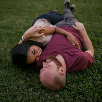 downtown dallas engagement photo