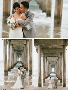 teryn and evan la jolla wedding photographer, california wedding photography, dramatic pier photograph