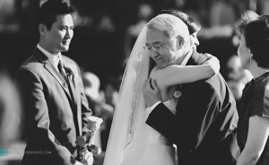 father giving away daughter at rancho bernardo inn wedding san diego photographer