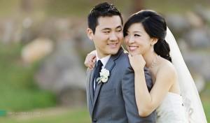 sweet bride and groom at rancho bernardo inn wedding san diego photographer