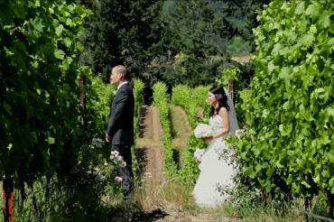 willamette valley winery wedding venue videography