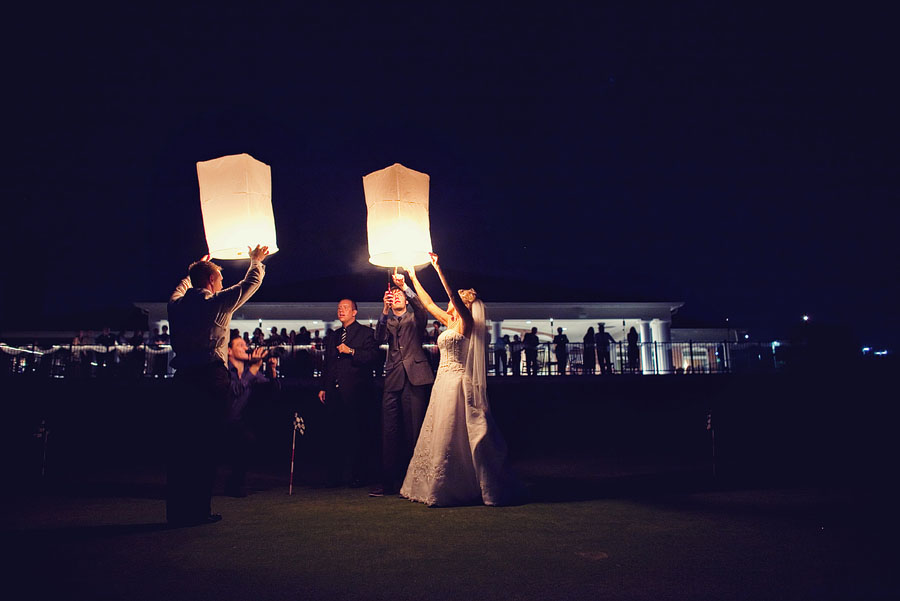 oakmont country club wedding images, chinese lanterns wedding photo