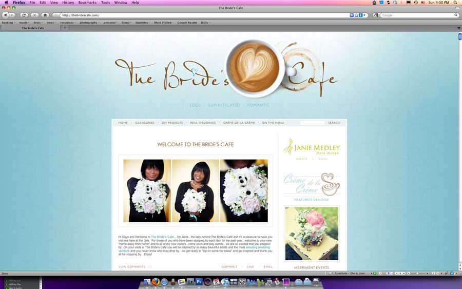 bride's cafe featured real wedding