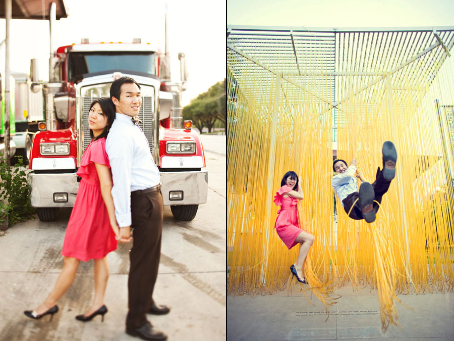 esther and jeff engagement session in austin texas, mueller austin engagement photos, university of texas at austin engagement photo