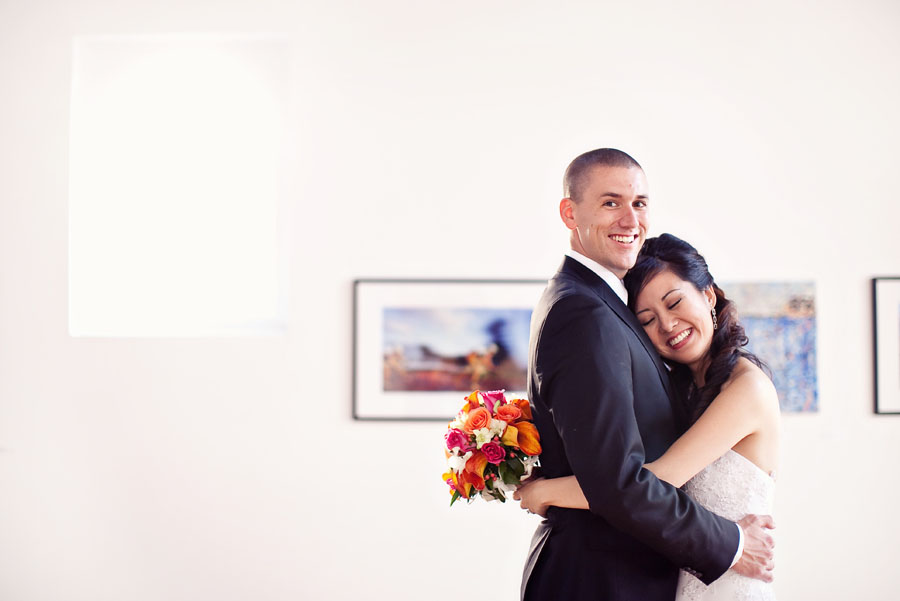 plano art centre wedding image