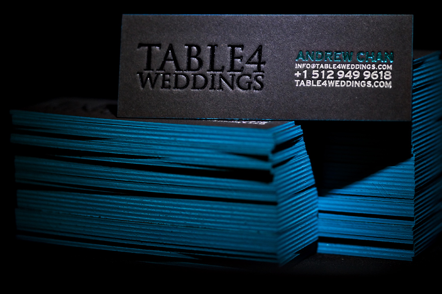studio-z.com letterpress business card photos for table4