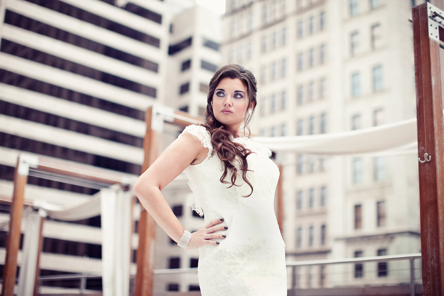 pm lounge rooftop pool deck bridal photo