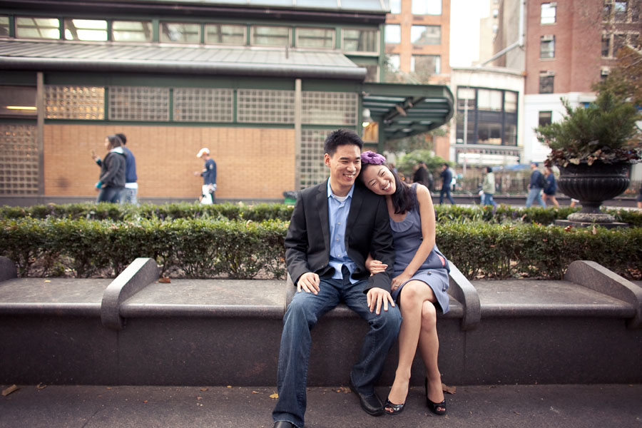 new york engagement photo