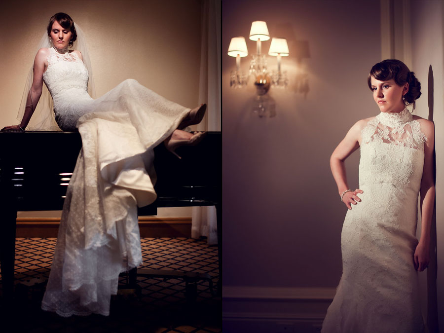 classy elegant bridal photo at houston's st. regis hotel photographed by wedding photographer table4 weddings