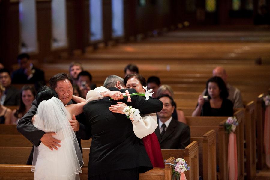 the village church wedding photo