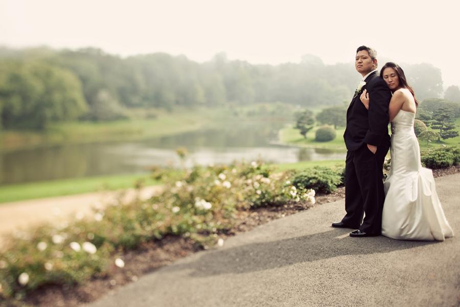 chicago botanic garden wedding photo
