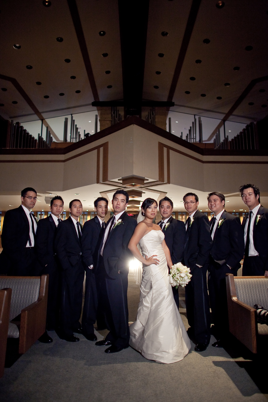 Simple Modern Wedding at Memorial Drive Presbyterian Church Houston Texas photographed by table4