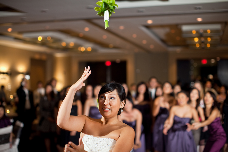 Simple Modern Wedding Reception at Hotel Derek Houston Texas photographed by table4