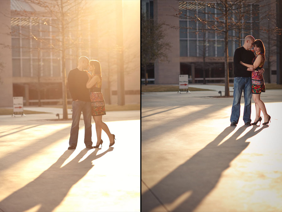 fun, sexy engagement photos in downtown dallas by dallas wedding photographer table4 weddings