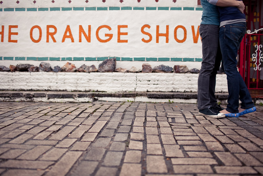 fun, chic engagement photos at the orange show houston by dallas wedding photographer table4
