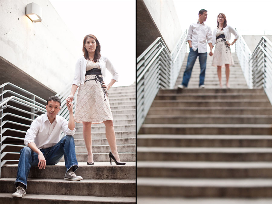 fun, funky engagement photos in austin on south congress by austin wedding photographer table4 weddings