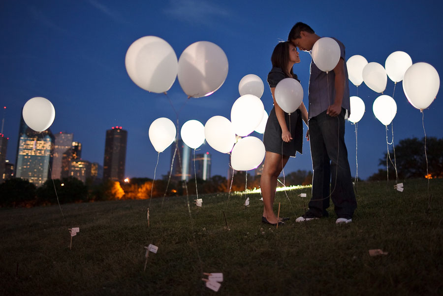 fun creative engagement session with balloons by dallas wedding photographer table4