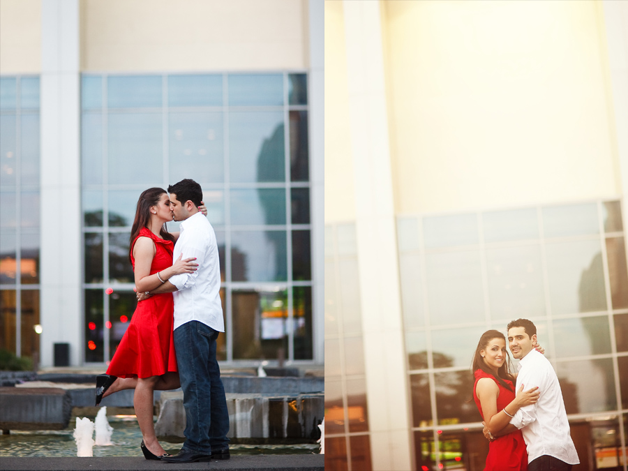 dallas performing arts center engagement photos by dallas photographer table4