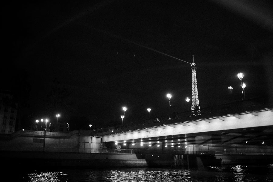 eiffel tower at night, seine river boat tour