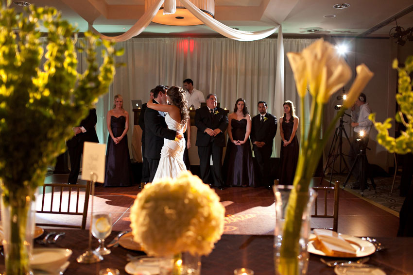 modern fun wedding reception photo at tower club dallas by wedding photographer table4
