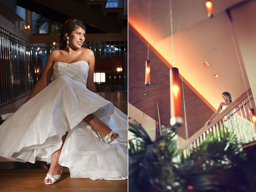 fresh, modern bridal portraits at luxurious dallas hotel palomar by table4 photography