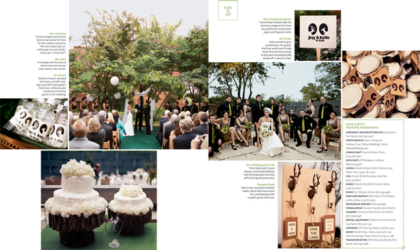 the knot texas wedding feature katie and jeff by table4 photography