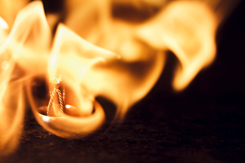 wedding ring on fire