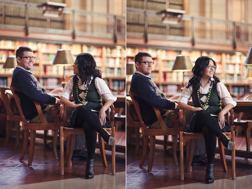 new york public library engagement session by destination engagement photographer table4