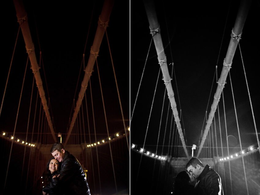 brooklyn bridge at night engagement photo by dallas wedding photographer table4