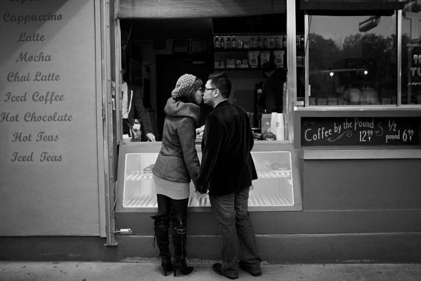 jo's coffee austin engagement photography