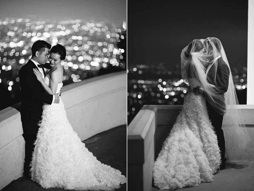griffith observatory wedding photo
