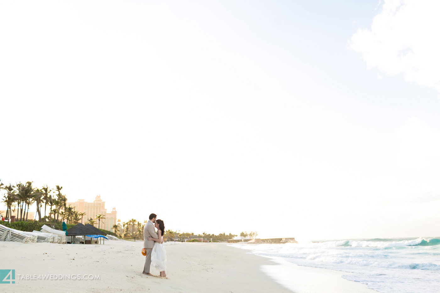 atlantis bahamas beach wedding during hurricane sandy