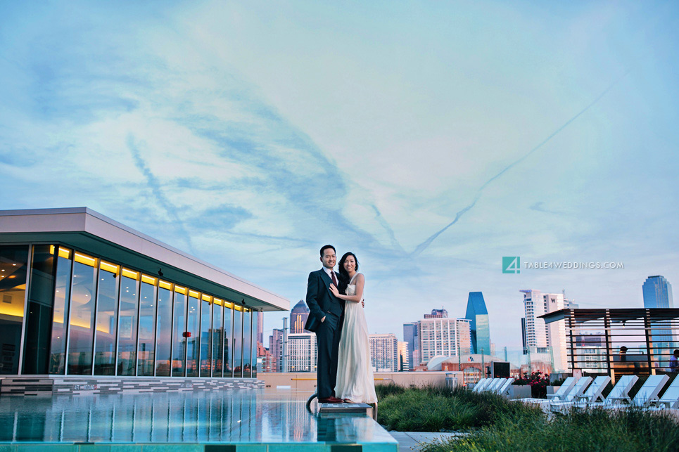 downtown dallas 1400 highline engagement photo