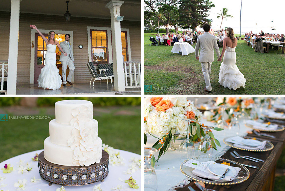 olowalu plantation house wedding reception, maui wedding photography, maui sweet cakes wedding cake, hawaii wedding photography