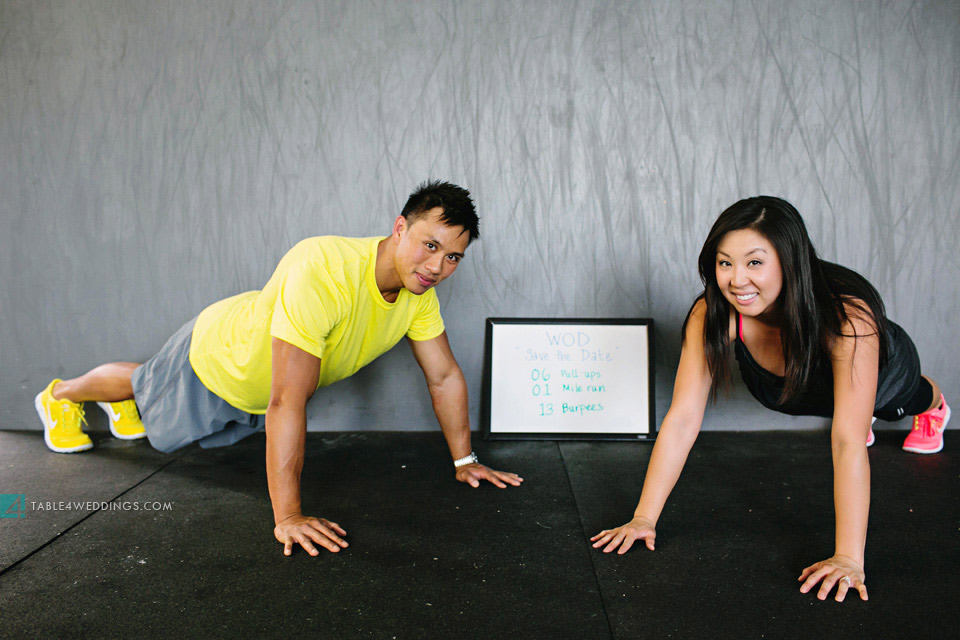 crossfit engagement photo wod