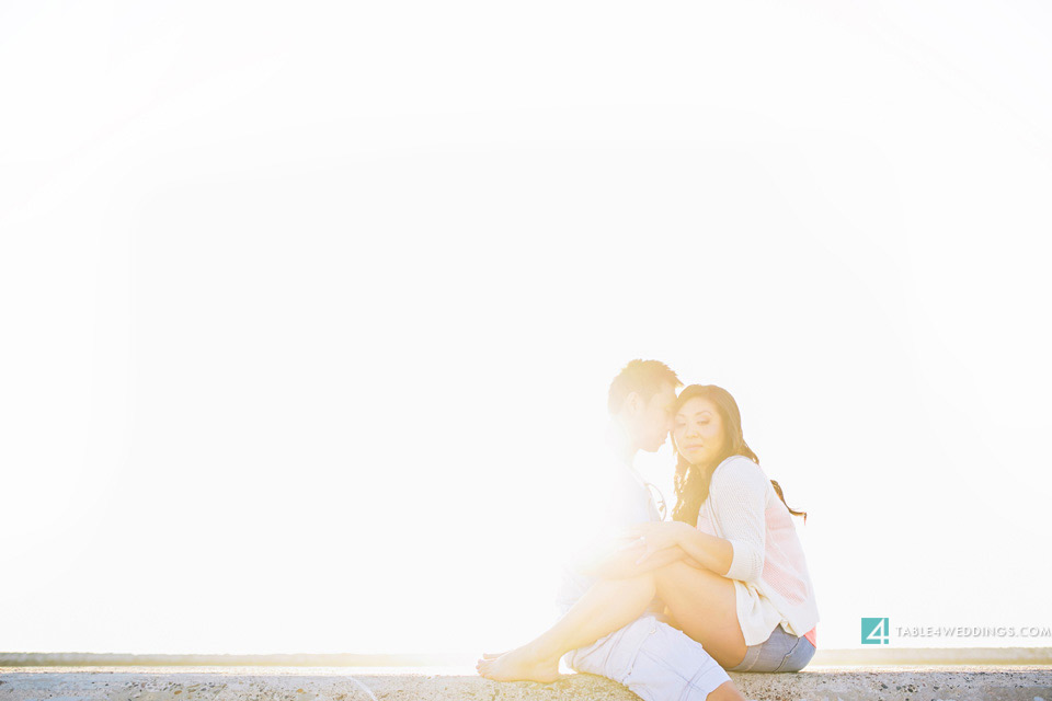 orange county beach engagement photography
