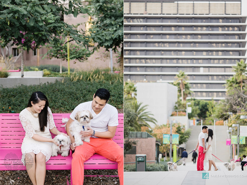 downtown los angeles grand park engagement session