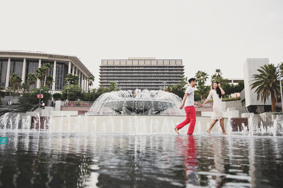 downtown los angeles grand park engagement photos