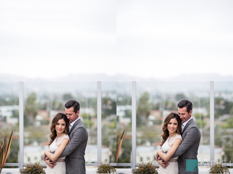 downtown la hotel wilshire engagement photos for janet and dustin