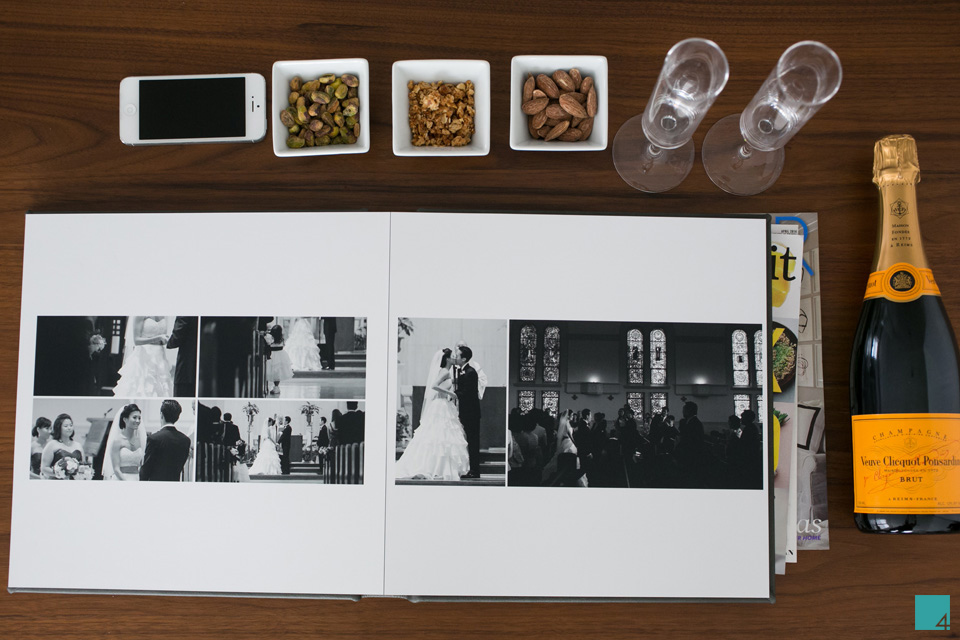 table4 wedding albums flush mount signature album