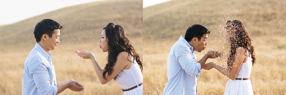 riley wilderness park engagement photo, southern california wedding, confetti engagement