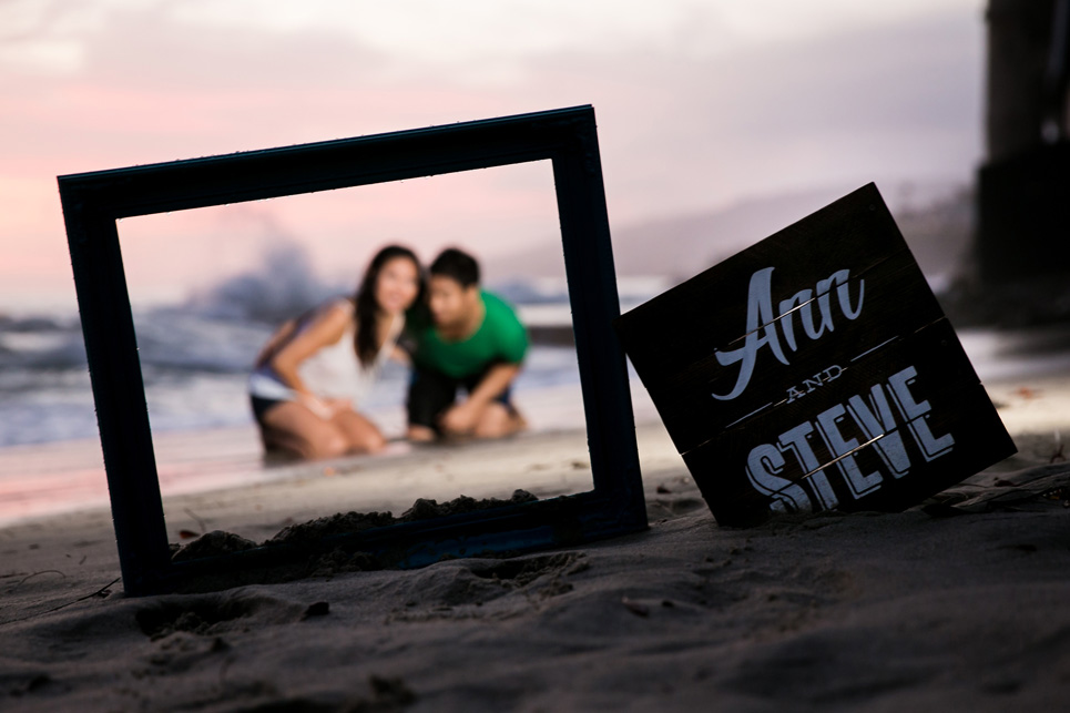 laguna beach sunset waves engagement photo, sexy southern california wedding photographer jason huang