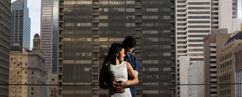 downtown dallas engagement photo valentina and eric by Jason Huang, Table4.