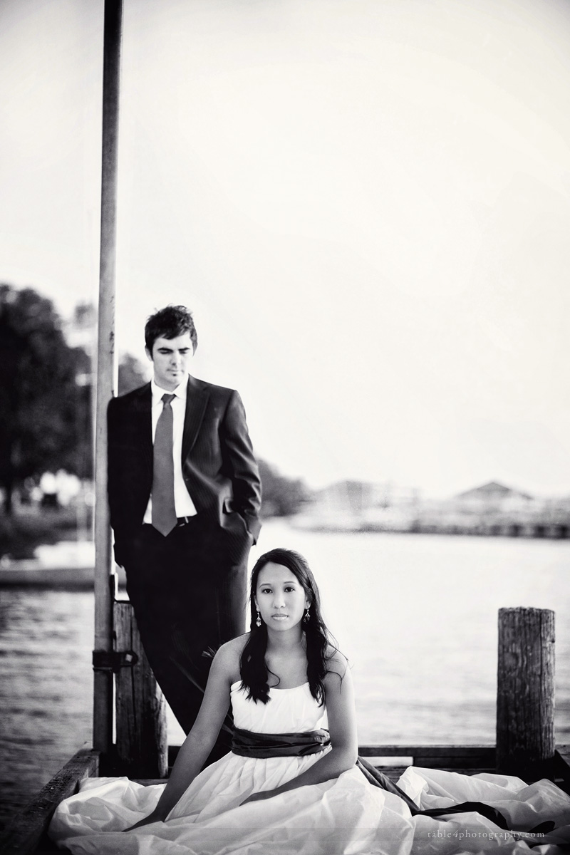 white rock lake wedding picture