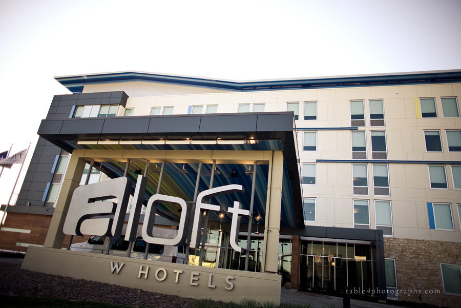 aloft hotel dallas wedding picture