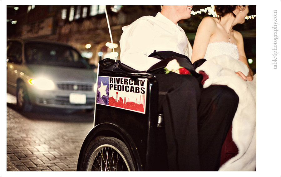 sheraton gunther hotel in san antonio, tx wedding image, rivercity pedicabs image