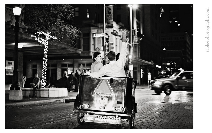 sheraton gunther hotel in san antonio, tx wedding image, pedicab image