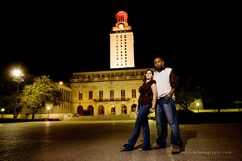 ut tower engagement picture